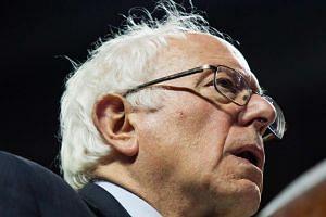 US Democratic presidential candidate Bernie Sanders speaks at Temple University, April 6, 2016, in Philadelphia, Pennsylvania.