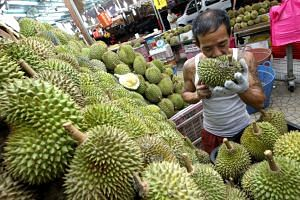 The supply of durians is expected to decrease by 40 per cent because of the hot weather.