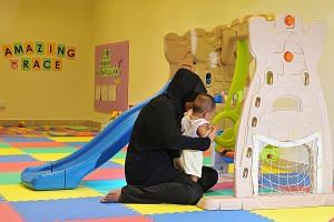"""Single mum """"Lina"""" and her six-month-old daughter live in Geylang Serai, one of the five areas where KidStart will be launched in the second half of the year. The scheme will coordinate existing support services provided by different agencies and will"""