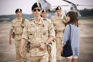 A television still from Descendants of the Sun.