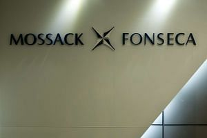 The logo of Panama law firm Mossack Fonseca is seen at the entrance of its Hong Kong office on April 14, 2016.
