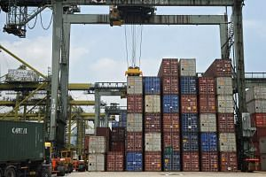 Singapore's non-oil domestic exports (NODX) in March shrank a worse-than-forecast 15.6 per cent from a year ago.