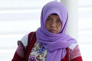 Former domestic helper Khanifah at court on April 19, 2016.