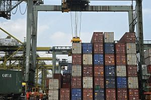 The latest data showed that Singapore's non-oil domestic exports fell 15.6 per cent in March from the same month a year earlier, worse than economists' expectations of a 12.3 per cent fall.