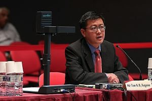 Prof Tan speaking at the first hearing on changes to the elected presidency yesterday. The SMU law don said that rather than having a legal framework to ensure a minority president, which would undermine his legitimacy, candidates should be required