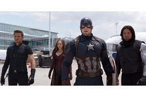 A still from the Marvel/Disney blockbuster Captain America: Civil War.