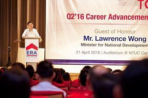 Minister for National Development Mr Lawrence Wong Speaking at ERA Q2 Career Advancement Day.