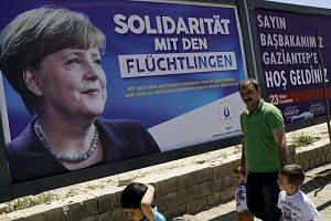 German Chancellor Angela Merkel is expected to visit a refugee camp during her trip to Turkey along with Donald Tusk and Frans Timmermans.