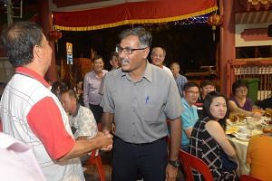 Mr Murali Pillai of the PAP also spent the day doing house visits. He later attended a dinner at the Guilin Combined Temple. Dr Chee Soon Juan of the SDP visited coffee shops and homes in Bukit Batok yesterday, in a bid to reach out to as many of the