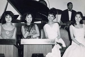 Cabaret women at Happy World in the 1940s. Not many were aware that they were involved in charity. A sum of $13,000 was raised by the Singapore Dance Hostesses' Association for the Nanyang University building fund in the 1950s.