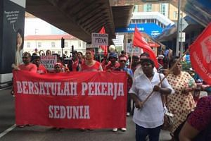 Hundreds have gathered on Sunday (May 1) in Kuala Lumpur for the May Day rally to push for an increase in minimum wage.