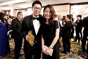 Mr Tan and Ms Murano at a ball organised by luxury lifestyle magazine Icon last year.
