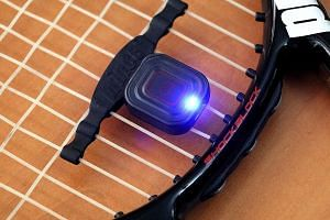 The Qlipp Tennis Sensor works as a dampener to control string vibrations as well.