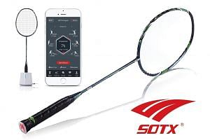 Sotx A9 Smart Racquet package comes with a badminton bag and a charging dock. Just put the racquet's handle inside the dock to charge.