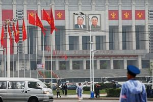 House of Culture in Pyongyang, the venue of Workers' Party of Korea (WPK) congress on May 6, 2016.