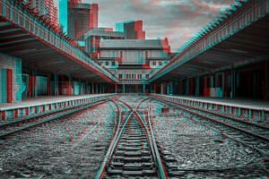 A 3D image of the former Tanjong Pagar Railway Station that was created by Italian photographer Alberto Fanelli.