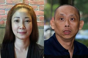 Guan Enmei (left), the ex-wife of alleged match-fixing kingpin Dan Tan Seet Eng, is on trial for giving false information to CPIB.