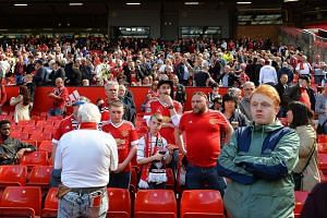 Fans are informed that the English Premier League football match between Manchester United and Bournemouth has been called off on police advice because of a suspect package at Old Trafford.