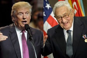 US Republican presidential candidate Donald Trump (left) is scheduled to meet with former Secretary of State Henry Kissinger.