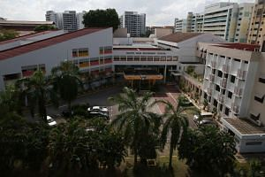 A view of North View Secondary School, where 14-year-old Benjamin Lim had been picked up by police officers.