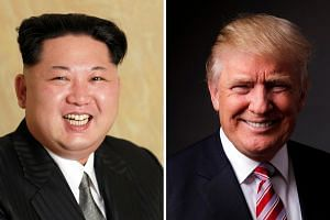Republican presidential candidate Donald Trump (right) said on Tuesday (May 17) he is willing to talk to North Korean leader Kim Jong Un.