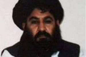 Afghan Taleban leader Mullah Akhtar Mansour posing for a photograph at an undisclosed location in Afghanistan.