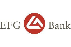 Logo of EFG Bank.