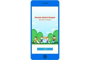 A mockup of the app, Mozzie Watch Keeper @ North West, from the Community Development Council (CDC).