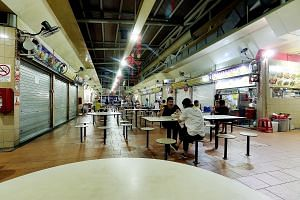 During Pek Kio Market and Food Centre's closure, utensils, tables, chairs and food preparation surfaces will be cleaned and disinfected. More than 180 cases of gastric flu have been reported in the Owen Road area as of Monday, according to the author