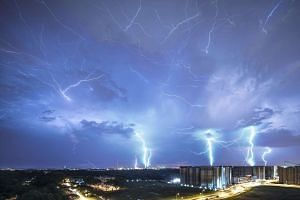 Local photographer Darren Soh's composite image of a lightning storm has earned widespread recognition.