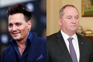 A war of words between Johnny Depp (left) and an Australian minister reignited on Wednesday with Mr Barnaby Joyce claiming he was the Hollywood star's Hannibal Lecter.