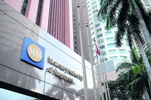 Facade of the Monetary Authority of Singapore (MAS) building.