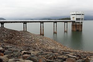 This year's dry spell has reduced the water level at the Linggiu dam, which dropped to 35 per cent last month. Water rationing has been carried out since last month in the Mersing and Kota Tinggi districts.