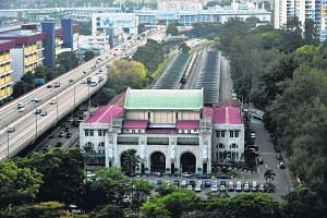 An aerial view of the Tanjong Pagar Railway Station.
