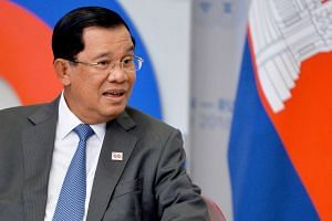 Cambodian Prime Minister Hun Sen attends a meeting during the ASEAN-Russia Commemorative Summit in Sochi, Russia on May 19.
