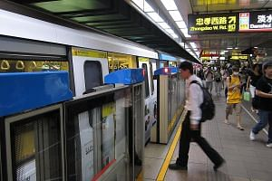 A Taipei metro train in operation. At a rail infrastructure maintenance forum in Singapore yesterday, Transport Minister Khaw Boon Wan shared the findings of a study trip to Taipei. He said that for the Taipei Rapid Transit Corporation, reliability i