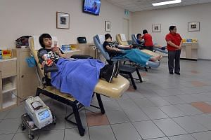 There are now four blood banks, including Bloodbank@HSA (above) in Outram Road, and there are plans for another in the east to cope with the rising demand due to an ageing and growing population.