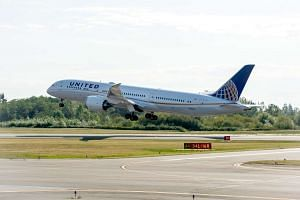 United Airlines' new Boeing 787-9 Dreamliner.