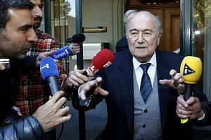 Former Fifa president Sepp Blatter leaves the Court of Arbitration for Sport (CAS) in Lausanne, Switzerland, on April 29, 2016.