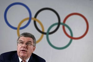 International Olympic Committee president Thomas Bach at a news conference on June 3, 2016.