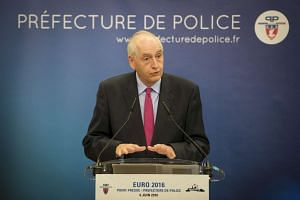 Paris police chief Michel Cadot speaks at the press conference regarding security at the Fan Zones during the Uefa Euro 2016 in France, on June 6, 2016.