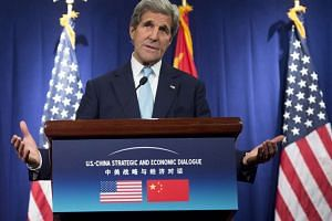 US Secretary of State John Kerry holds a press conference at the conclusion of the US-China Strategic and Economic Dialogues in Beijing.