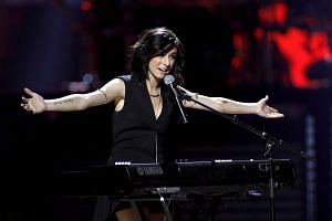 Christina Grimmie performs during the 2015 iHeartRadio Music Festival at the MGM Grand Garden Arena in Las Vegas, on Sept 18, 2015.