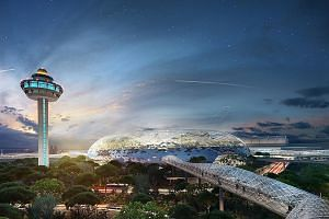 An artist's impression of Project Jewel, Changi Airport's first tie-up with a private firm. It will offer mainly retail services.