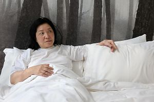 Veteran actress Margaret Chan (above) is the Singapore face of Everything By My Side by Argentinian artist Fernando Rubio, a performance featuring 10 women whispering childhood memories in bed to one audience member at a time.
