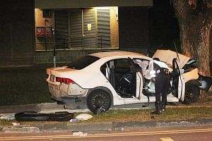 The accident at the junction of Lentor Avenue towards Ang Mo Kio Avenue 6 killed Ms Sim Yee Ling, who was travelling with her husband Simon Tan and their two sons, aged three and six.