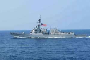 Guided missile destroyer USS William P. Lawrence (DDG 110) transits the Philippine Sea.