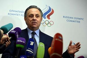 Russia's Sports Minister Vitaly Mutko addressing the media within the election of a new chief of Russia's athletics federation (Araf), on Jan 16, 2016.