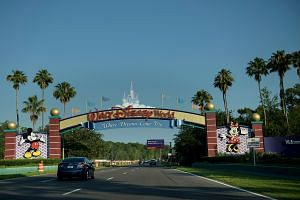 Entrance to the Walt Disney World theme park in Orlando, Florida seen on June 15, where two-year-old Lane Graves was attacked by an alligator at the Seven Seas Lagoon by the Grand Floridian hotel.