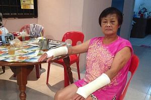 In the latest lift incident on June 9, Madam Lai suffered wrist fractures and bruising in her left eye when she tripped while exiting a lift in her Bukit Batok block. The lift was not level with the first floor when the doors opened, she said.